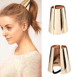 $enCountryForm.capitalKeyWord Australia - New Punk Style Elastic Ponytail Holder Hair Accories Hair Band Retro Vintage Round Hair Ring For Womens Scrunchy With Box