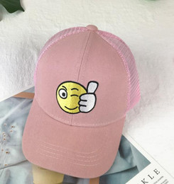 $enCountryForm.capitalKeyWord Australia - Pink Children's Baseball Cap Boy's Spring And Summer Girl's Duck Tongue Cap Baby's Sun Hat Breathable Thin Sunshade Net Hat