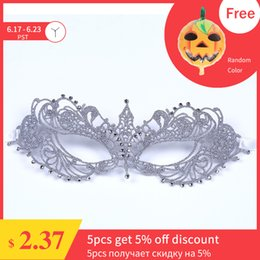 $enCountryForm.capitalKeyWord Australia - Fashion Silver Ball Mask Women Sexy Lace Masquerade Mask Sexy for Carnival Carnival Halloween Fifty Shades Grey Half Face Mask