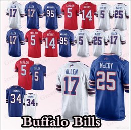 993f44cf6 Mens Buffalo 5 Tyrod Taylor 12 Jim Kelly 17 Josh Allen 25 LeSean McCoy 27 Tre Davious  White Bills 49 Tremaine Edmunds Sammy Thomas Jerseys