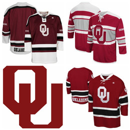 $enCountryForm.capitalKeyWord Australia - Custom Men's Oklahoma Sooners Colosseum Athletic Machine Hockey Sweater Jersey Stitched Any Name Any Number Hight Quality Size S-3XL