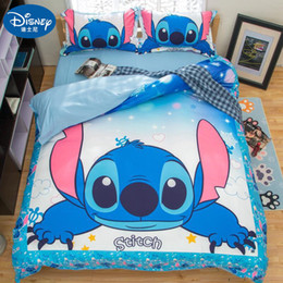 queen quilt orange green NZ - Stitch Boys Bedding Sets Twin Full Queen King Cartoon Quilt Cover Pillowcase Duvet Cover Set Children Bed Gift