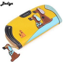 passport case women Australia - Fashion Cute Long Wallet Women Pu Leather Cartoon Dog Bag Lady Clutch Phone Case Puppy Zipper Card Holder Female Change Purses