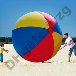 beach tennis Canada - 200cm 80inch Inflatable Beach Pool Toys Water Ball Summer Sport Play Toy Balloon Outdoors Play In The Water Beach Ball Fun Gift