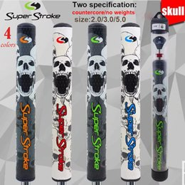 putter golf grips 2019 - Super Stro** SKULL newest putter grips Slim 2.0 3.0  grip Golf Putter Grips Countercore 4 colors free shipping discount