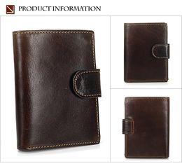 Color Leather Bags Australia - MISFITS Retro Hasp Genuine Cowhide Men Wallets Leather Card Holder Slots Coin Organizer Bag Short Wallet 4 Color X472