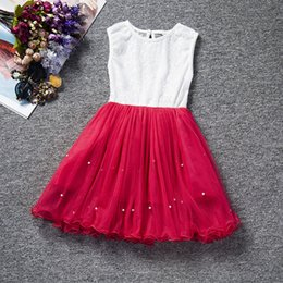 $enCountryForm.capitalKeyWord Australia - Kids Baby Girl Dresses Clothing Pearls Party Cute Sleeveless Ball Gown Tulle Tutu Dress New Outfit 2018 Spring Clothes for