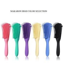 Wholesale Scalp Massage Comb Detangling Brush Natural Hair Detangler Tangle Removal Comb Powerful Function Non-slip Design For Curling Wavy Long Hair