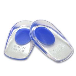 Memory Insoles Shoes Australia - Silicone Gel Insoles Heel Pad Foot Care Cups Calcaneal Spur Elastic Care Half Insole Shoe Inserts RRA885