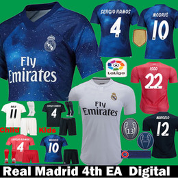 27f2303c7 2018 2019 Real Madrid EA Sports digital INSANE Men Kids ASENSIO ISCO MARCELO  Soccer Jerseys 18 19 Children KROOS MODRIC Football Shirts Set