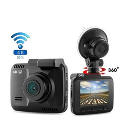 gps out NZ - Newly 4K Built in GPS WiFi Car DVR Recorder Dash Cam Dual Lens Vehicle Rear View Camera Camcorder Night Vision Dashcam