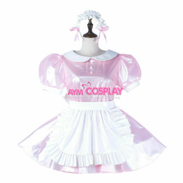 tailor made costumes Australia - Clear PVC sissy maid mini dress lockable cross dressers Tailor-made Cos