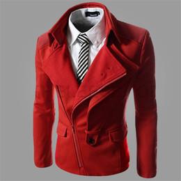 Discount oblique jacket fashion - Irregular oblique zipper Fashion Men Jacket Men's Hooded Casual Jackets Male Spring Autumn Coat Thin Outwear Couple
