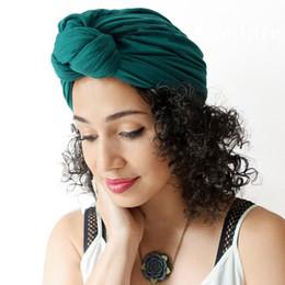 $enCountryForm.capitalKeyWord Australia - Women Cotton Turban Autumn Winter Bohemian Knotted Cap Elastic Pure Color Casual Head Cap Hair Accessories cny1490