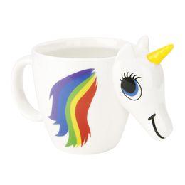 $enCountryForm.capitalKeyWord Australia - New Cartoon Unicorn Mugs,Ceramic Color Changing Cup Original 3D Heat Sensitive Magic Coffee Mugs Unicorn Discoloration Cups