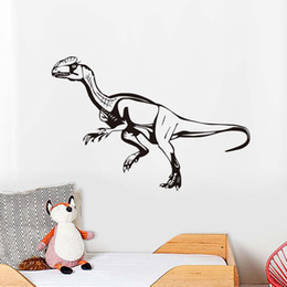 fdb006e2d5f9d4 DCTOP Black Printed Velociraptor Wall Sticker For Kids Rooms Dinosaur  Removable Self Adhesive Wall Art Stickers Home Decor