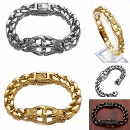 "Mens Heavy Rings Australia - Heavy Curb Chain Bracelet 12mm Mens Stainless Steel 316L Curb Cuban Bracelets Hip Hop Rock Jewelry Gift 8.66"" long Bangles"