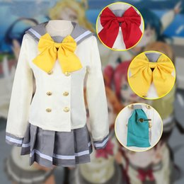 Wholesale love live cosplay for sale - Group buy Anime Love Live Sunshine Cosplay Costume Aqours School Uniforms Kurosawa Ruby Sailor Suit