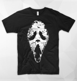 Cotton Scream Australia - Scream Face Mask T Shirt Ghostface Killer Horror Movie Halloween Zombie Ghost Size Discout Hot New Tshirt Funny 100% Cotton T Shirt