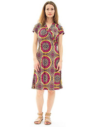 Avanti Bottega Women's Casual Short Sleeve Knee Length Midi Dress