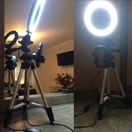 6,2-дюймовый кольцевой светильник с подставкой для штатива для видео и макияжа YouTube, мини светодиодная камера с держателем для мобильного телефона