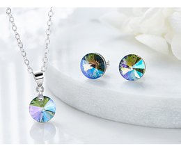 5de457a80 Cdyle Crystals from Swarovski 925 Sterling Silver Trendy Jewelry Stud  Earring Elegant Bijoux Lady Gift Purple Color Campus wind Set For Lady