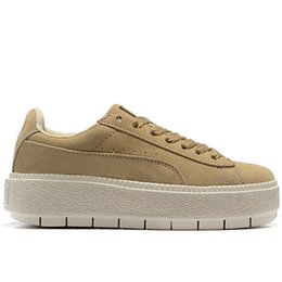 Girls Without Shoes Australia - Women's Fashion Platform Casual Shoes Creepers Rihanna Black Designer Shoes Girls Sneakers Red Bottoms Without Heels Size 7 35.5 Made China