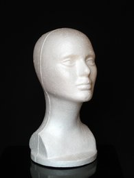VENDA QUENTE Prático espuma fêmea Mannequin Cabeça Óculos Cap Perucas exibição Suporte Suporte Modelo Drop Shipping em Promoção