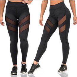 Wholesale plus size yoga pants resale online – America Fitness Clothes Female Europe And Plus Size Fast Dry Trousers Sports Tight Hollow Sports Running Yoga Pants Leggings
