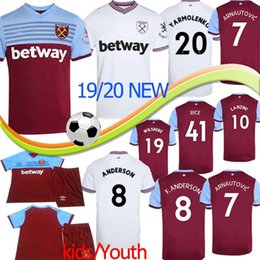 Wholesale 19 Thai West Ham soccer jersey United home away NOBLE CHICHARITO jerseys ANDERSON ARNAUTOVIC ANTONIO football uniforms shirt