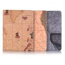 $enCountryForm.capitalKeyWord Australia - Free DHL Wholesale Exquisite Map Ultra-thin Case for Ipad Mini 2 3 4 Case Leather Wallet Case with Holder and Folio Cover for Ipad Air