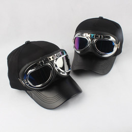 5fd4b18d840 Ski Goggles Baseball Cap Fancy Cotton Panels with Polite Glasses Sports Caps  Decoration Novelty Halley Hat for Men and Women