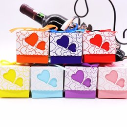 $enCountryForm.capitalKeyWord Australia - 50pcs Double Hollow Love Heart Boxes Design Laser Cut Wedding Favor Gifts Candy Bags With Ribbon Party Sup Q190603