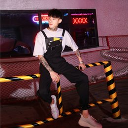 Korean Summer Jumpsuits Australia - Spring and Summer New Mens Jumpsuits Casual Loose Bib Overalls Korean Street Style Handsome Youthful Pants