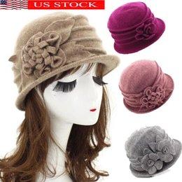 Womens Wool Hats Flower UK - 2019 New Sweet French Flower Berets Hat Womens  Pearl Beaded 64b9182f019e