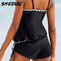 32e37d0e4ce9 2017 New Conservative Bathing Suit Narrow Strap Dots Bordered One-piece  Swimsuit Loose Style Black Push Up Women Swimwear