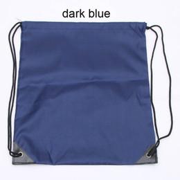 $enCountryForm.capitalKeyWord Australia - Fashion 210D Nylon Drawstring Bags Solid Color Portable Sports Bag Outdoor Backpack Gym Drawstring Shoes Bag Clothes Backpacks