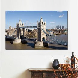 River Bridge Painting Australia - Wall decoration prints canvas paintings river london bridge day