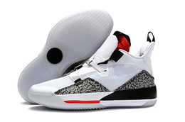 China 2019 Latest 33 Men Basketball Shoe White Black Red Leopard print Fashion designer fashion Mens Athletic Sports Sneaker cheap print stretched canvas suppliers