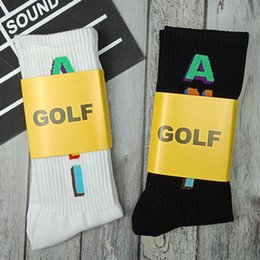 99c00da94c8a Golf Wang Socks Fashion Colorful 3D Letter ANTI Print Cotton Socks High  Quality Men Women Jogger Stockings White Black MTI0404