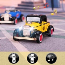 Car Lights Australia - 1:36 Alloy Pull Back Car Toy Diecast Model Toy Sound light Brinquedos Car Vehicle Toys For Boys Children Gift