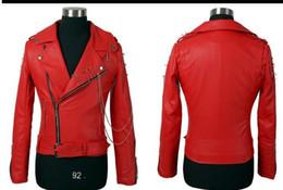 Korean Motorcycle Jacket Australia - 2019 new Korean version of the slim short men's fashion motorcycle leather jacket DJ stage singer performance jacket costumes