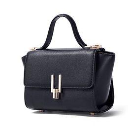 Computer Hand Bags NZ - 2019 Female New Wings Bag Lychee Pattern U-shaped Lock Small Hand Bag Shoulder Messenger Bag