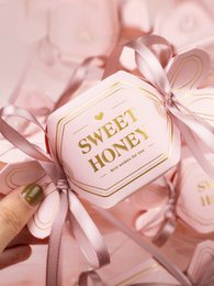 Wholesale sugar free sweets for sale - Group buy 50pcs Sweet honey gift box personality romantic wedding sugar box ring