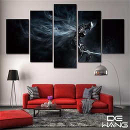 oil painting landscapes dark Australia - Dark Souls Fondos De Pantalla,5 Pieces Home Decor HD Printed Modern Art Painting on Canvas (Unframed Framed)