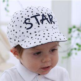 $enCountryForm.capitalKeyWord NZ - Star Prints Baby Hat For Newborn Cotton Spring Autumn Baseball Caps Kids Leter Embroidery Baby Girl Boys Costum Ingant