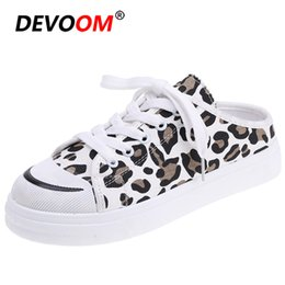 korean ladies canvas shoes UK - Fashion Korean Style Women Womens Loafers Woman Flat Shoes 2019 Spring Summer Canvas Lady Shoes Lovely Strawberry Footwear Mules