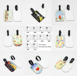 Double side MDF Blank Sublimation Lage tag Heat press print ID tag 1000pieces free shipping can mix on Sale