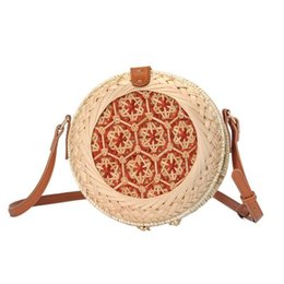 Bags Hand Making Australia - Rattan Made Hand-braided Messenger Bag Natural Fashion Beach Round Rattan Straw Braided Bags For Women Brand New