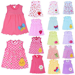 $enCountryForm.capitalKeyWord Australia - 2018 Summer Girls Dresses Newborn Baby O-neck Sleeveless Cotton Princess Mini Casual Dress Child Cute Pattern Decor Dot Clothes
